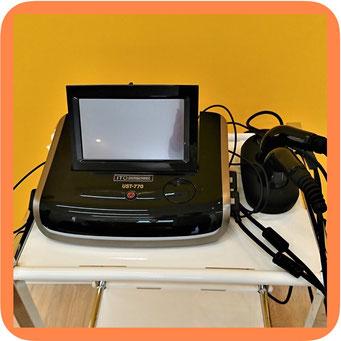 超音波の機械の写真