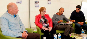 Vincent Carpentier, Jacqueline Leprettre, Jean-Blaize Djian sont interrogés par Hamed Berkane