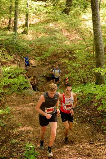 Jacob Link (li.) und Steffen (Foto: Andechs-Trail / Facebook)