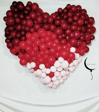 cuore palloncini san valentino allestimento
