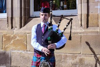 Dudelsack, Kilt, Schottland, Edinburgh, Die Traumreiser