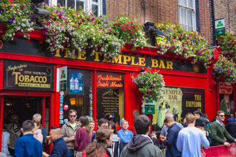 Temple Bar, Dublin, Irland, Pubs, Bars, Restaurants, Die Traumreiser