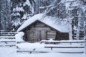 Lappland, Finnland, Finnisch Lappland, Die Traumreiser, Hütte, Schnee, Reisetipps