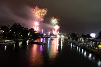 Melbourne, Feuerwerk, Australien, Moomba Festival