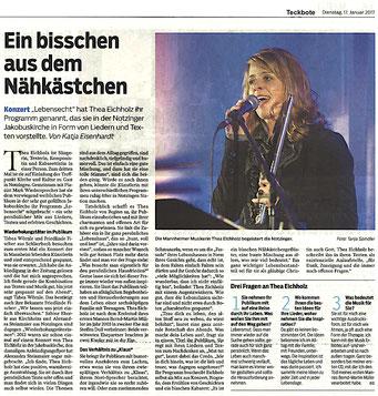 Konzertbericht von Katja Eisenhart, Teckbote 17.1.2017