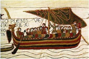 Wandteppich von Bayeux, normannisches Schiff
