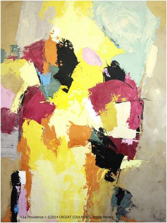 Tableau peinture abstraite moderne et unique crozat coulmont - Photo d art grand format ...