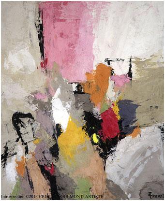 Peinture Abstraite Contemporaine (Enduit de chaux/ bois)/ France Peintres/ Femmes Artistes.