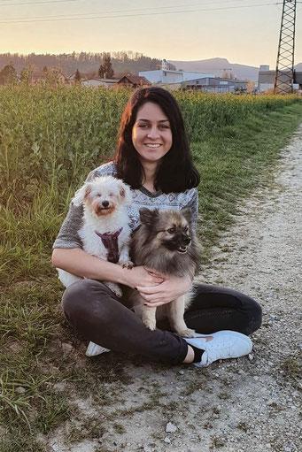 Meine Hunde Joy und Buba und ich