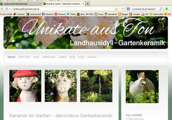 Landhausidyll-Gartenkeramik-Website