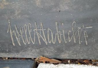 Signatur Well Habicht in Dresden Bild: Susann Wuschko