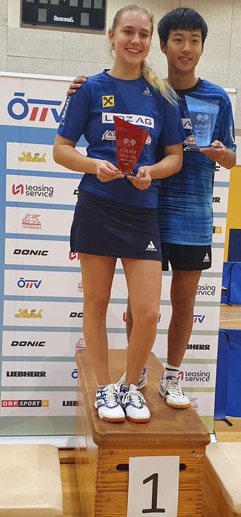 Foto privat Anastasiya Radzionava und Zhenlong Liu Sieger bei Austria Top 19