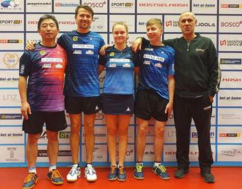 Foto privat - Zhang Jie, Julius Preu, Margarita Baltushyte, Jan Nemeth, Szolt Harczi