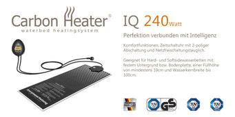 Wasserbett Heizung Carbon IQ Digital von T.B.D. Wasserbetten Würth Freiburg
