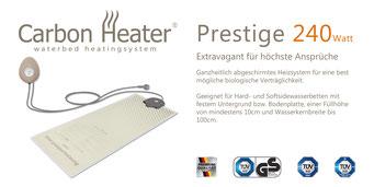 Wasserbett Heizung Carbon Prestige von T.B.D. Wasserbetten Würth Freiburg
