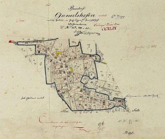 Ortskarte von Gannertshofen 1823