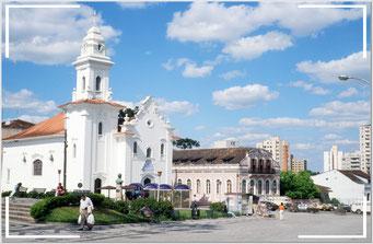 Kirche in der historischen Altstadt. Centro Histórico de Curitiba