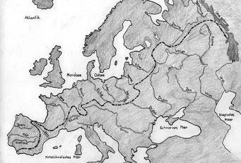 Karte Große Wasserscheide