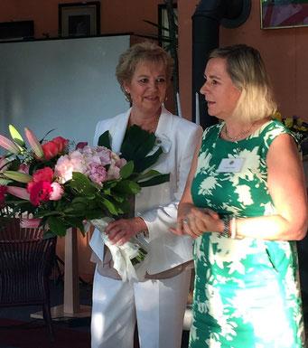 Präsidentin Christine Mögling li. und Past-Präsidentin Dr. Sabine Wloch