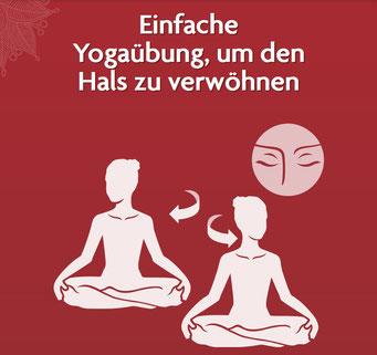 Einfache Yogaübung, um den Hals zu verwöhnen - Yoga ist Vereinigung und Einheit