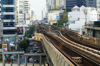 Öffentlicher Verkehr in Bangkok: MRT und Skytrain