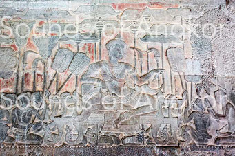 Le roi Suryavarman II en majesté. Galerie sud. Angkor Vat.