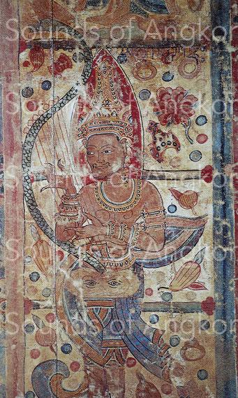 Bannière du Chedi Wat Dok Ngön (près de Chieng Mai, Thaïlande). Musée National, Bangkok