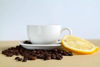 Kaffee Espresso Zitrone Kopfschmerzen natürliche Mittel Healthlove Lifestyle