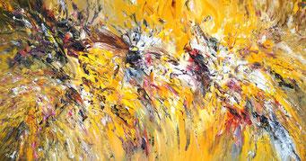 Das XXL-Gemälde Full Of Hope XXL 1 mit den Maßen 200 x 100 cm