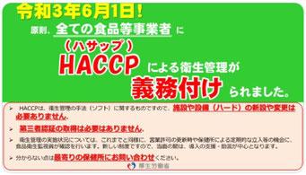HACCP義務化(2021.6.1~)
