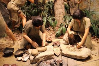 縄文時代の生活風景(小樽市総合初物館)