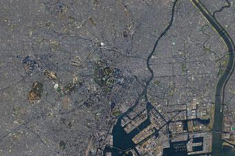 東京の航空地図