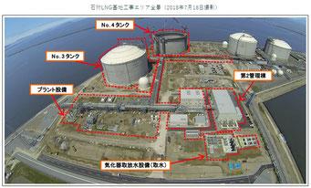 北海道電力石狩湾新港発電所建設工事進捗