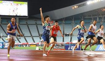 五輪予選男子100m多田選手が1位(2021/06/25)