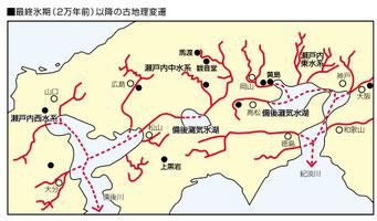 2万年前の瀬戸内海