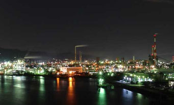 周南コンビナートの夜景