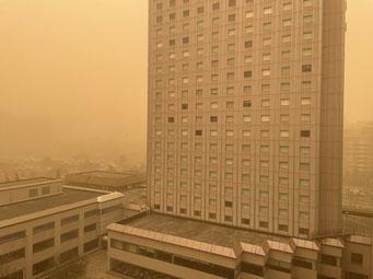 北京の黄砂(2021年3月15日)