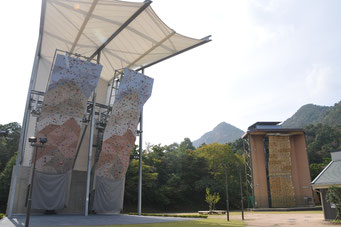 山口県セミナーパークのクライミング施設