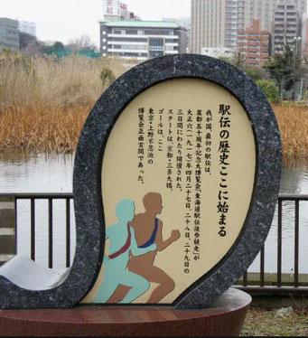 東海道駅伝のゴール:上野不忍池