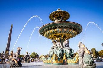 パリ・コンコルド広場の噴水