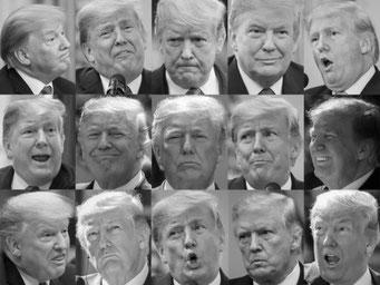 トランプ大統領の表情