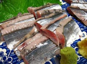 秋刀魚のお造り(田布施町ブログ)