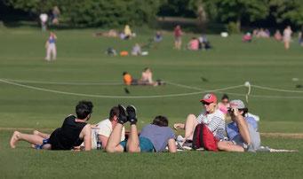 ロンドン市内の公園(2020年5月)