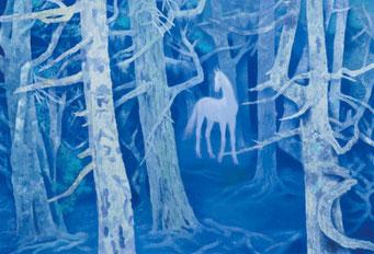東山魁夷「白馬の森」