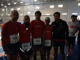 De izq. a der. Dionisio Flores, Juan Valera, Agustín Castro, Rafael Carmona y Kiki 1:30 Somé.