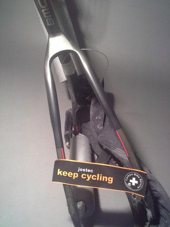 Fahrradanhänger Kinderanhänger Carbonrahmen Klemmkralle
