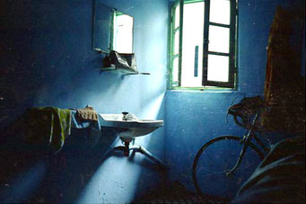 mein blaues Zimmer in Moulay - einfach, aber ausreichend