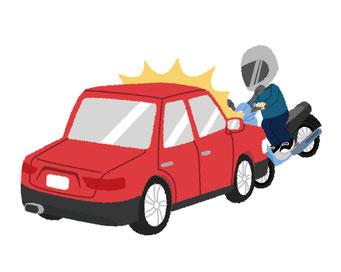 オートバイや車のハイビームのイメージ