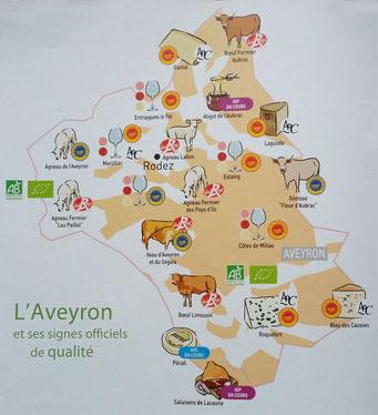 aveyron-gastronomie-carte-des-produits-locaux-conseils-gîte-d'-exception-en-aveyron-le-colombier-saint-véran-vacances-à-2-en-amoureux-tourisme-occitanie-sud-france