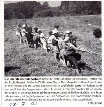 Erstes deutsch-französisches Treffen mit der Ecole Germain Müller